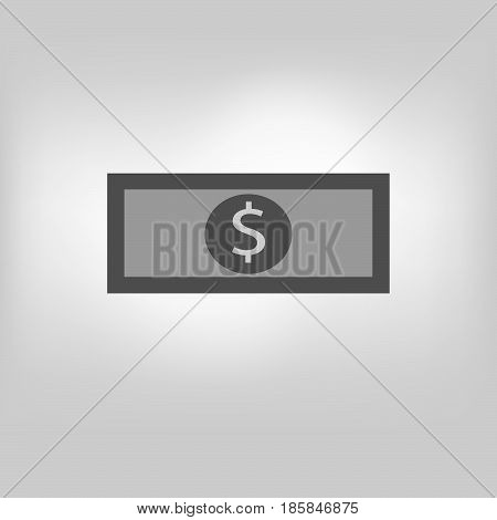 vector money dollar icon illustration on background