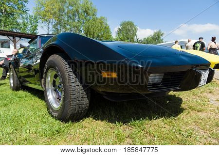 Paaren Im Glien, Germany - May 19: The Chevrolet Corvette Stingray (c3) Is A Sports Car Produced By