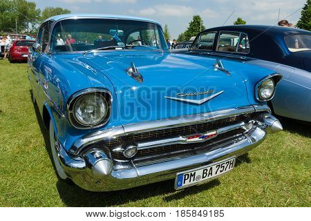 Paaren Im Glien, Germany - May 19: Full-size Car Chevrolet Bel Air Sedan,