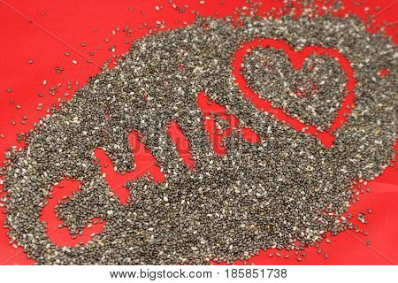 Chia seeds/ This is a chia seeds background.