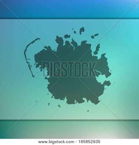 micronesia map on blurred background. vector flag. blur. travel. ocean. island