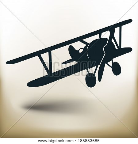 Simple symbolic image of an old airplane