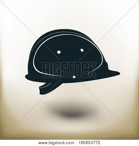 Simple symbolic image of a construction helmet