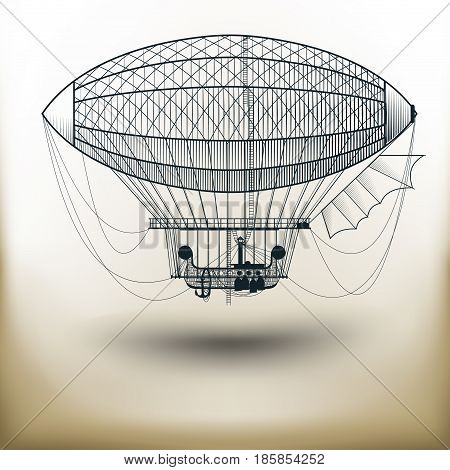 Simple symbolic image of a fairy air balloon