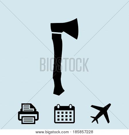 ax icon stock vector illustration flat design