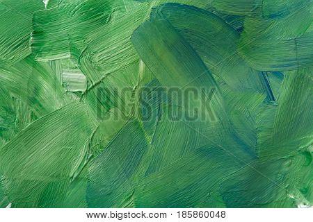 Abstract green oil paint texture background, artwork, modern art