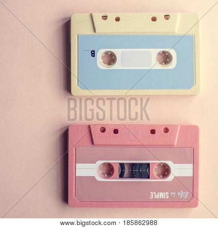 Cassette tape vintage set collection