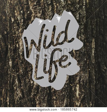 Wild Life Free Natural Word Graphic