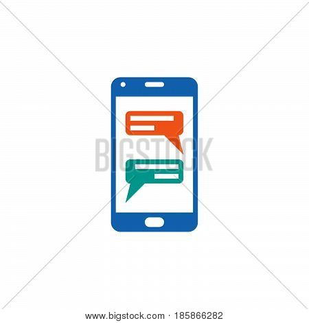 instant messaging client for smartphones icon vector sms chat solid logo illustration pictogram isolated on white