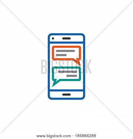 instant messaging client for smartphones line icon sms chat outline vector logo illustration linear pictogram isolated on white