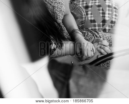 Couple Holding Hands Together Love Tenderness