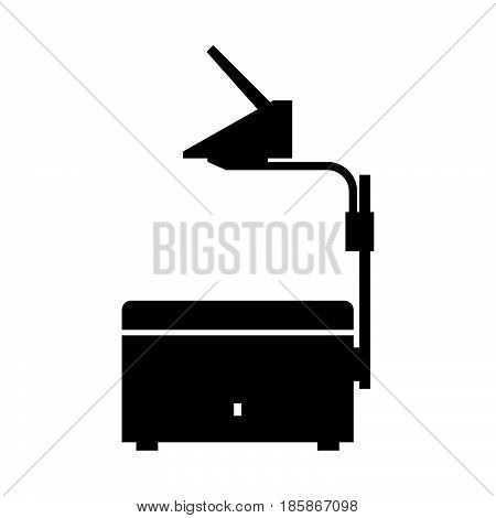 Overhead projector ( shade picture ) on whte