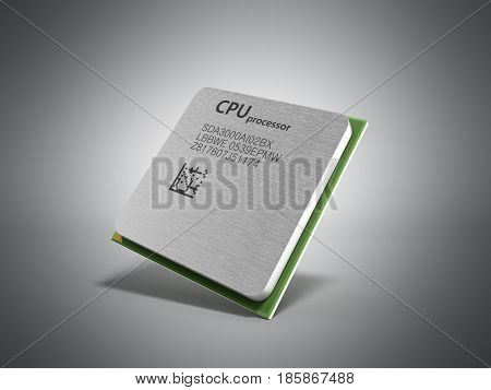 Central Computer Processors Cpu High Resolution 3D Render On Grey