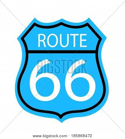 Route 66 sign vector illustration on white