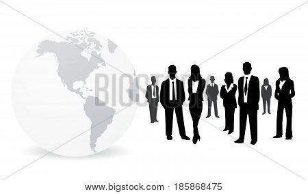 Business people vector illustration art on white