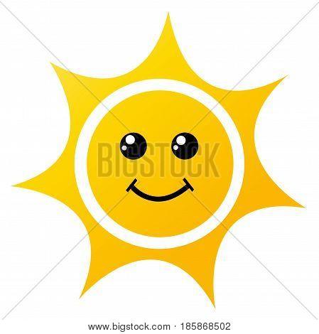 illustration of the sun on white background