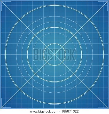 Vector blueprint vector photo free trial bigstock vector blueprint background texture technical backdrop paper radial guidelines circle mesh concept malvernweather Image collections