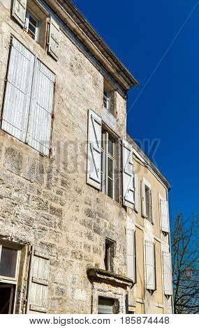 Historic buildings in Angouleme, the Charente department of France