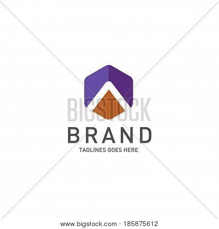 Best letterA logo octagonal concept, Letter A strong and creative logo concept, creative letter A concept design