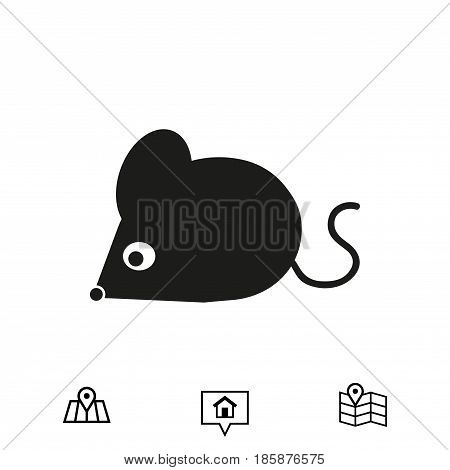 mouse icon stock vector illustration flat design
