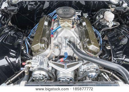 Chevrolet Camaro Z28 Engine On Display