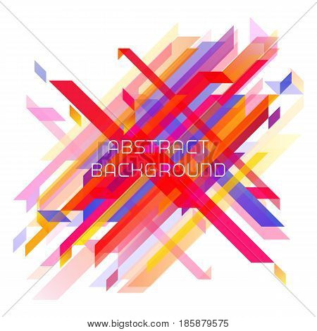 Abstract geometric background for brochure, leaflet, poster, backdrop, flyer etc. Stock vector illustration