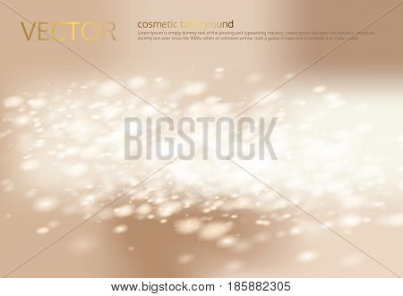 Vector abstract light beige background with silver sparkles, sequins. A great poster template for a cosmetic product