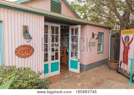 DARLING SOUTH AFRICA - MARCH 31 2017: The restaurant and cabaret theatre at Evita se Perron in Darling a town in the Swartland area of the Western Cape Province