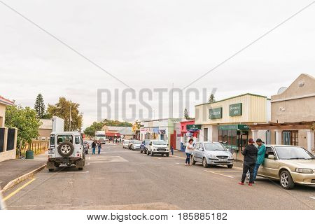 DARLING SOUTH AFRICA - MARCH 31 2017: A street scene in Darling a town in the Swartland area of the Western Cape Province