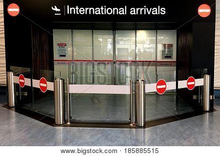 International Arrivals Gate At Auckland  International Airport
