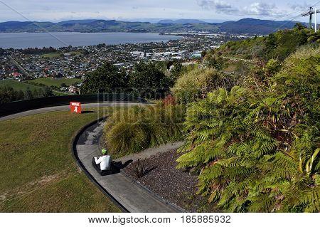 Man Ride On Skyline Rotorua Luge