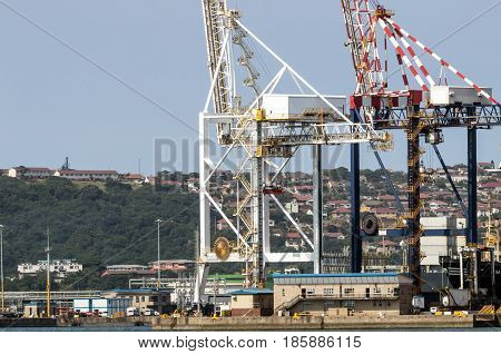 Cranes And Residential Housing In Durban South Africa