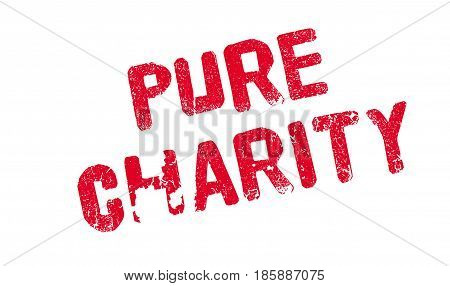 Pure Charity rubber stamp. Grunge design with dust scratches. Effects can be easily removed for a clean, crisp look. Color is easily changed.