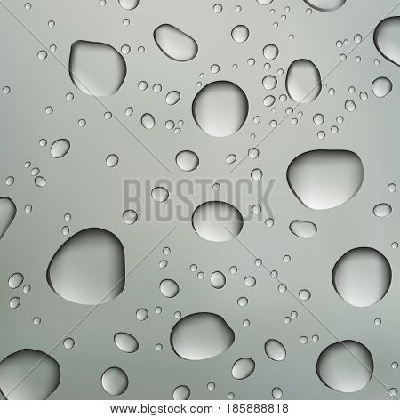 Vector water drops on glass surface. Can be used as backround
