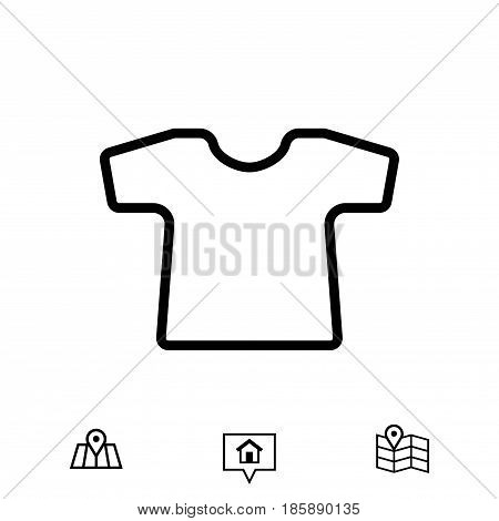 t-shirt icon stock vector illustration flat design