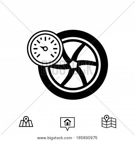 air pressure sensor icon stock vector illustration flat design