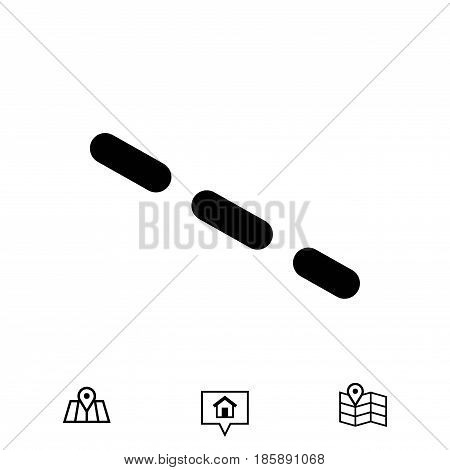 dash-dotted line icon stock vector illustration flat design