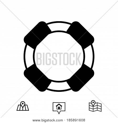 lifeline icon stock vector illustration flat design