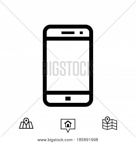 smartphone icon stock vector illustration flat design