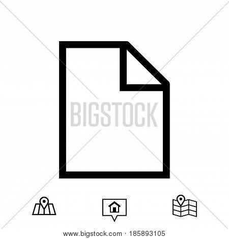 Blank sheet of paper icon stock vector illustration flat design