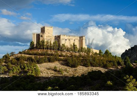 View of the castle, castillo de los Fajardo in Velez Blanco, Almeria Province, Andalucia, Spain, Western Europe.