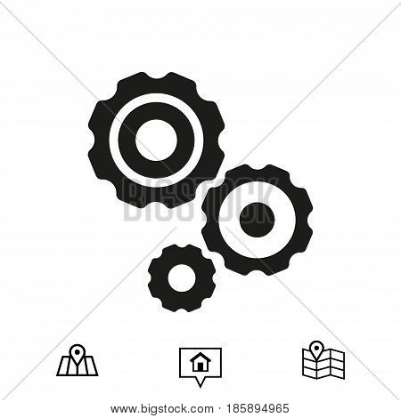 gear icon stock vector illustration flat design
