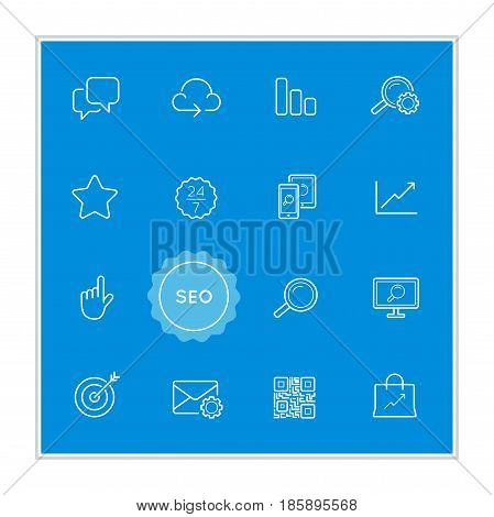 Set of Seo Search Engine Optimization Vector Illustration Elements can be used as Logo or Icon in premium quality
