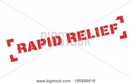 Rapid Relief rubber stamp. Grunge design with dust scratches. Effects can be easily removed for a clean, crisp look. Color is easily changed.