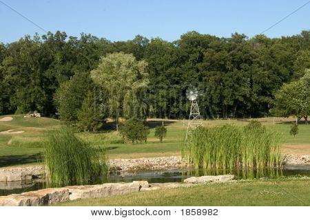 Pond & Windmill