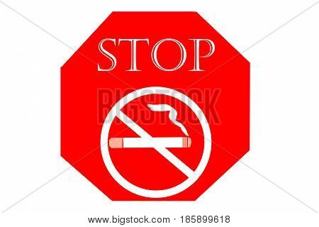 No smoking sign on white background May - 31 World No Tobacco Day.