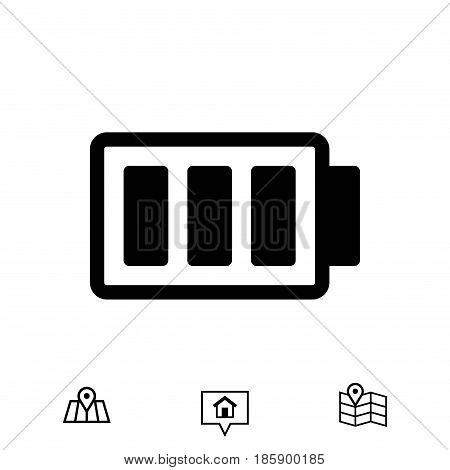 battery vector icon stock vector illustration flat design
