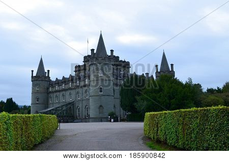 Inveraray Castle the home of clan Campbell.