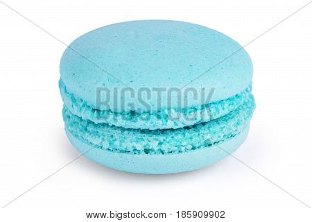 Cake macaron or macaroon isolated on white background sweet and colorful dessert
