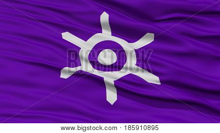 Closeup Tokyo Japan Prefecture Flag, Waving in the Wind, High Resolution
